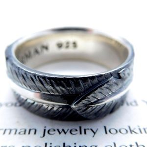 David Yurman Southwest Feather Band Ring 925